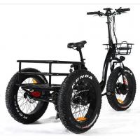 China Power 351 - 500w Electric Trike Bike , Electric Tricycle For Adults Gross Weight 45KG on sale