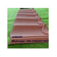 Cheap 1340mm 1170mm Black Stone Coated Steel Roof Tiles philippines with South Korea for sale