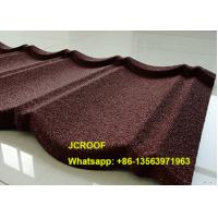Black Milano Stone Coated Steel Roof Tiles 0.5mm Thickness With Long Life
