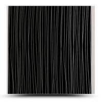 Best OEM / ODM Design Decorative Pvc Wall Panels Black Rectangle Hollow Structure wholesale