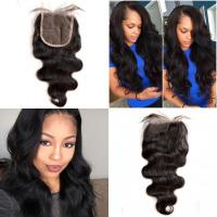 Best Brazilian Virgin Hair Lace Top Closure Body Wave Free Middle Three Parting wholesale