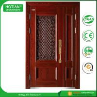 Best china supplier cheap steel security door/ exterior wrought iron security door for main gate designs wholesale