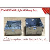 "Best 3""*6"" Metal Electrical Gang Box BS4662 Hot Dip Galvanized Coil With Adjustable Ring wholesale"