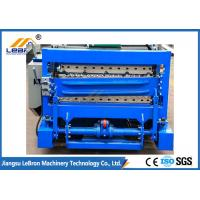 Best 7.5 KW Blue Color Double Layer Roll Forming Machine For Corrugated Sheet And IBR Sheet wholesale