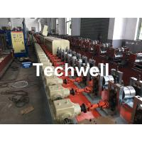 Best Aluminum , Carbon Steel Pu Foam Rolling Shutter Door Making Machine With Servo Tracking Flying-Saw Cutting wholesale