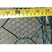 Cheap 8x10 Aperture 2m*1m*1m PVC Coated Gabion Wire Mesh Stone Cage For Retaining Wall for sale