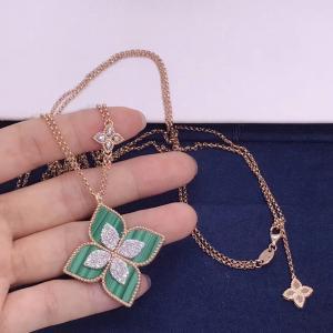 Best fashion jewelry brand Medium Flower Diamond Necklace brand jewelry names wholesale