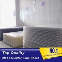 Best 3D manufactuer PS material lenticular board 120x240cm, 2mm lenticular sheet for 3d lenticular effect by injekt print wholesale