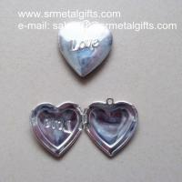 Buy cheap Silver Love Heart Photo Locket for diy jewelry, Love Heart Picture Locket from wholesalers
