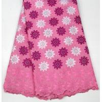 Best Swiss Cotton Lace Fabric , Multi Colored Embroidered Floral Lace Fabric For Abayas wholesale