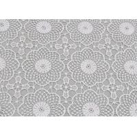 Best White Water Soluble Lace , Embroidered Guipure Venice Lace Fabric For Bridal Dress wholesale