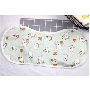 China Adjustable Infant Bandana Burp Cloths , Muslin Baby Clothes Bibs Four Layers on sale