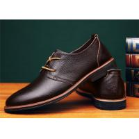 Best Concise Design Brown Comfortable Casual Shoes With Goodyear Welt Flat Heel wholesale