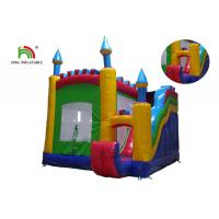 Best Outdoor 0.55mm PVC Tarpaulin Inflatable Jumping Castle With Slide For Rent wholesale