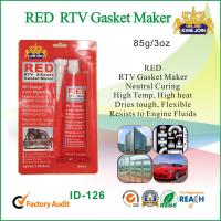 Best Silicone Air Proof RED RTV Gasket Maker Permanently Flexible Fast Curing wholesale