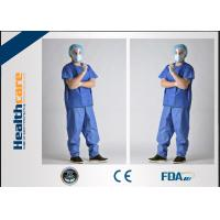 Buy cheap SPP Disposable Scrub ScrubsAnti Blood Short Sleeve UniformsWith Pocket from wholesalers
