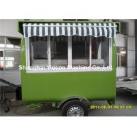 Cheap Hot Dog Food Truck Mobile Cooking TrailersDark Green With Gas Equipments wholesale