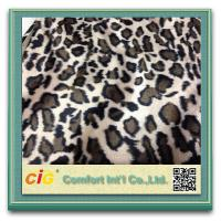 Cheap Animal Printed Realistic Faux fur Fabric For Scarf Garment / Coat , Soft Long Pile Fake Fur Material for sale