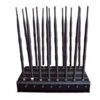 Best All-in-one 16 Bands High Power Adjustable Stationary Wireless Signal Jammer wholesale