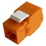 Best UTP Cat.6A Keystone Jack 180 Degree Orange Color   UL Listed factory of CAT.6A RJ45 UTP Toolless Keystone Jack wholesale