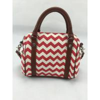 Best Simple Design Red Wavy Canvas Mummy Bag Canvas Diaper Bag With Outside Pockets wholesale