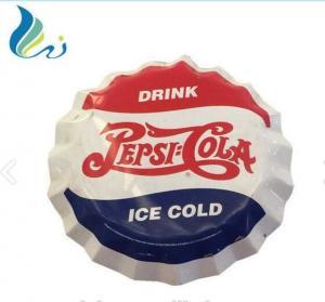 Best Custom Enamel Advertising Signs Enamel Beer Bottle Cap Sign For Decorative wholesale