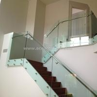 Indoor Standoff Glass Railing Stainless Steel Staircase Railing Price India