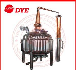 Best 1200L Copper Pot Still Alcohol Industrial Distillation Equipment CE wholesale