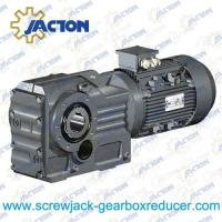 Best 25HP 18.5KW K Series Helical-bevel gear box, electric motor reducer Specifications wholesale
