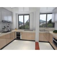 Big House Size White Painting Kitchen Cabinet MFC Board Carcase For Villa