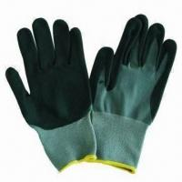 Best Foam Nitrile/PU-coated Gloves, Made of Nylon and Spandex wholesale