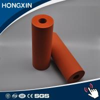 Best Custom Red Color Aluminum Core Silicone Rubber Coating Rollers wholesale