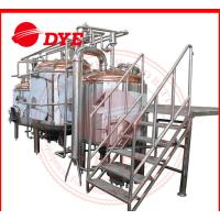 Best 380V 1000L Full-Automatic Beer Brewing Tanks Gas Heating With Lauter Tun wholesale