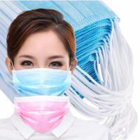 Best Adult Disposable Breathing Mask , Eco Friendly 3 Ply Non Woven Fabric Face Mask wholesale