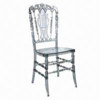 Best Exquisite Acrylic Clear Chiavari/Tiffany/Crystal Napoleon/Resin Chair wholesale