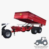 Best 3TR4WM - 4wheels small tractor trailer dump trailer with moto 3Ton wholesale