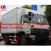 Best High quality and competitive price dongfeng 10tons 170hp diesel cold room truck for sale, refrigerator van truck wholesale