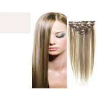 Best Brazilian Straight Virgin Clipping In Hair Extensions , Real Human Hair Extensions Clip In wholesale