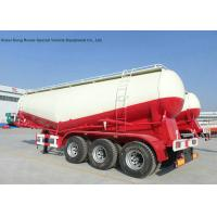 China 56-60cbm Tri Axle Bulker Cement Tank Trailer High Loading Capacity Customized on sale