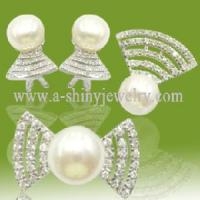 Best 2011 Latest 925 Sterling Silver or Brass With Freshwater Pearl Jewelry Set (RSF5225) wholesale