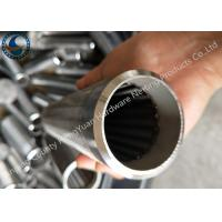 Best Bleved Welding Ring V Wire Wrap Screen Pipe / Water Well Screen For Sand Control wholesale