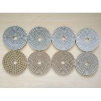 Buy cheap #50 #100 #200 #400 125mm White Wet Polishing Pad Thickness 2.5-3.0mm from wholesalers