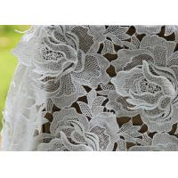 Best White Water Woluble French Polyester Guipure Lace Fabric With 3D Flower Design wholesale
