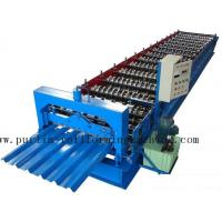 Best PLC Steel Metal Roof Panel Roll Forming Machine , Roofing Sheet Roll Former 5 Ton wholesale