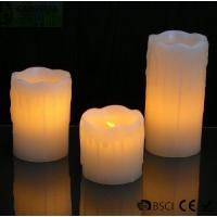 Best 3 Set Flickering Electric Battery Operated LED Candles for Holiday / Wedding wholesale