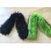 Best Warm Smooth Genuine Raccoon Fur Collar Scarf Winter Windproof For Woman / Men wholesale