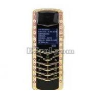 Best Luxury Signature Diamonds Rose Gold Pink Sapphires Mobile Phone wholesale