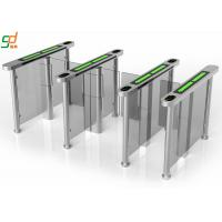 Best PVC Arm Supermarket Swing Gate , RFID Servo Motor Glass Turnstiles System wholesale