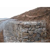 Cheap Dam Protecting Gabion Wire Mesh Basket 350-550N / MM2 Tensile Strength for sale