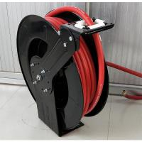 China Double Hose Retractable Water Hose Reel Spring Driven Type For Liquid Supply on sale